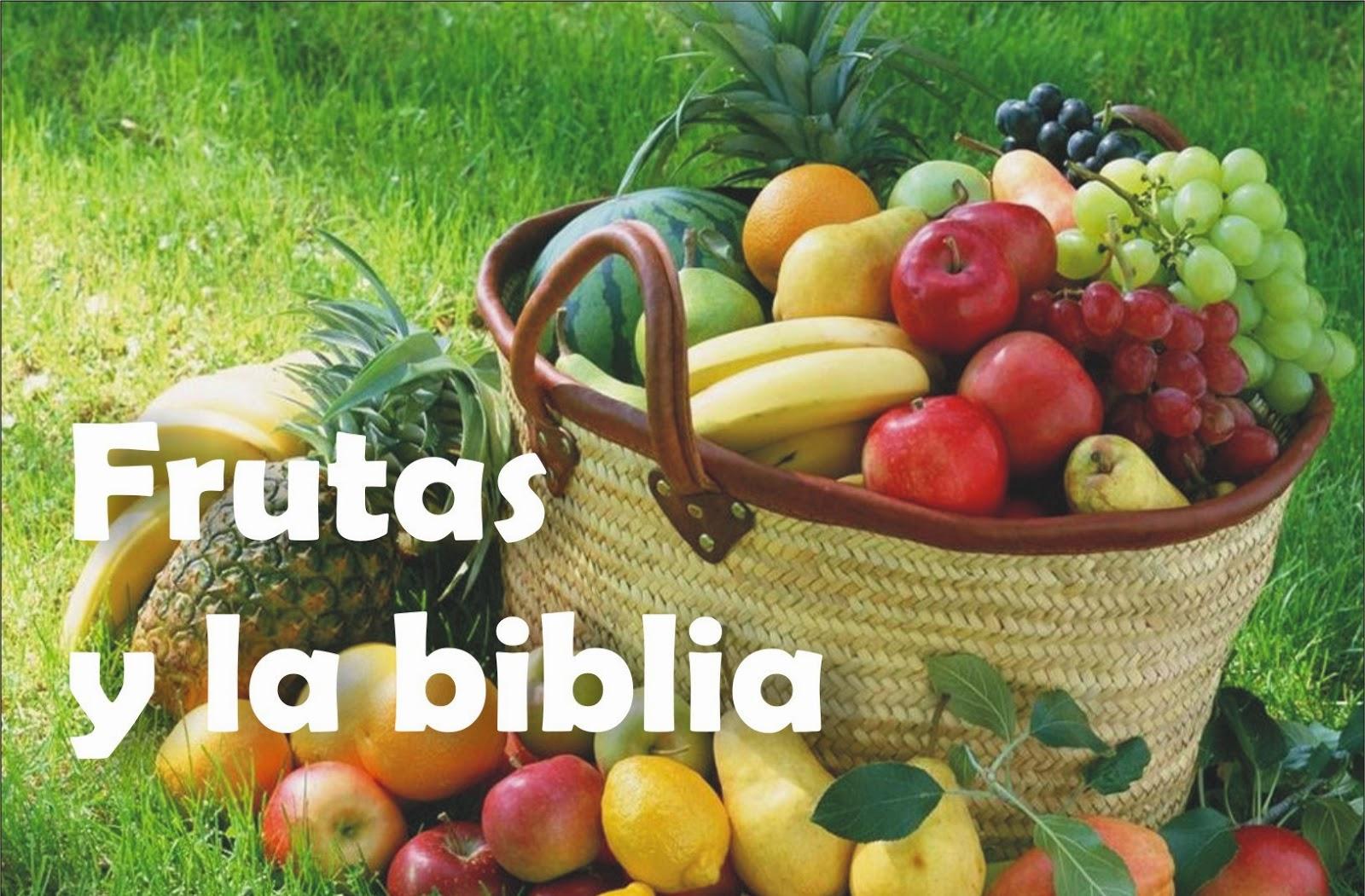 Frutas y la biblia