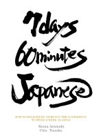 7 Days 60 Minutes Japanese phrasebook