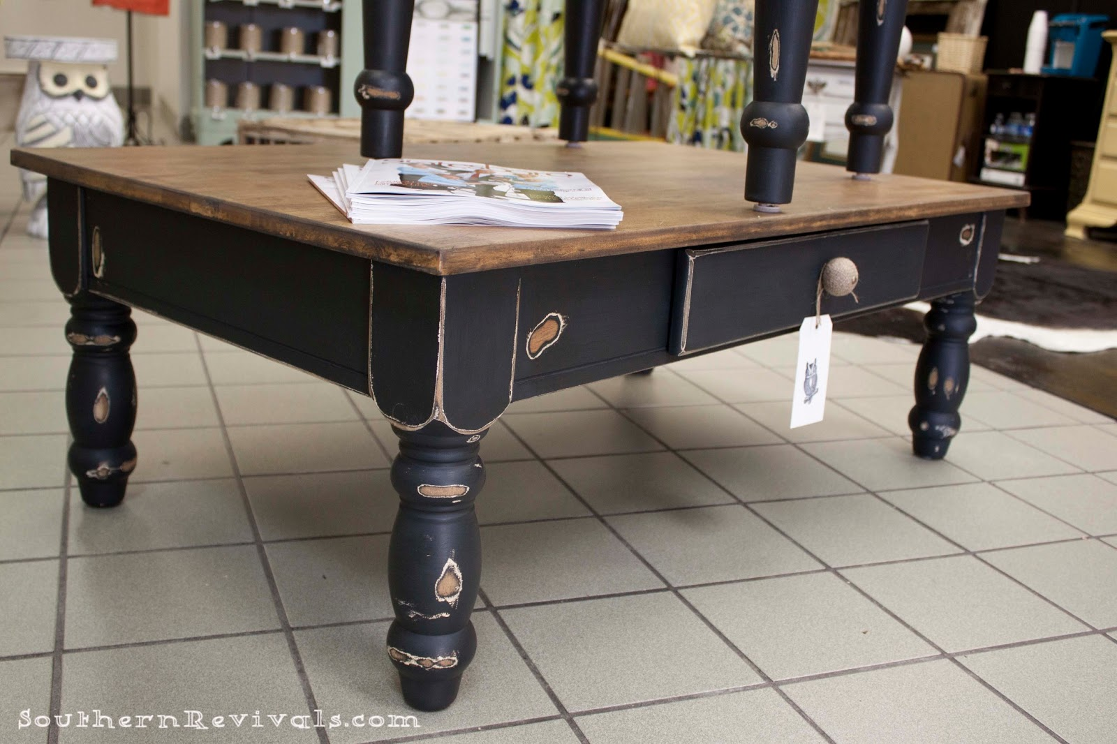 Pottery Barn Inspired Coffee Table End Table Makeover Southern