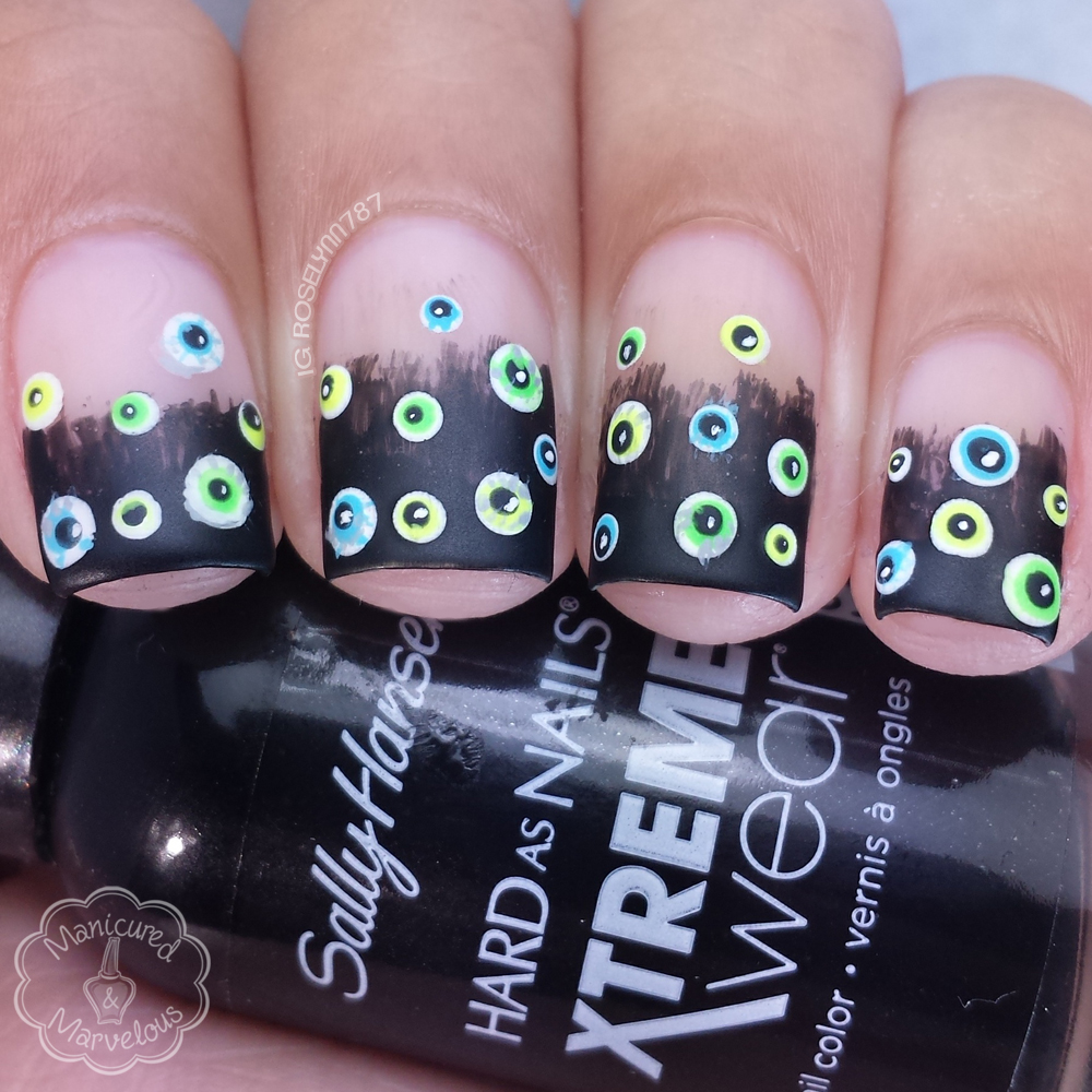 13 Days of Halloween: Eyeball Nailart - Manicured & Marvelous