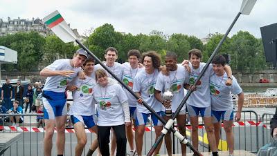 Régates en Seine 2012 ESCP Europe Aviron_podium garçons