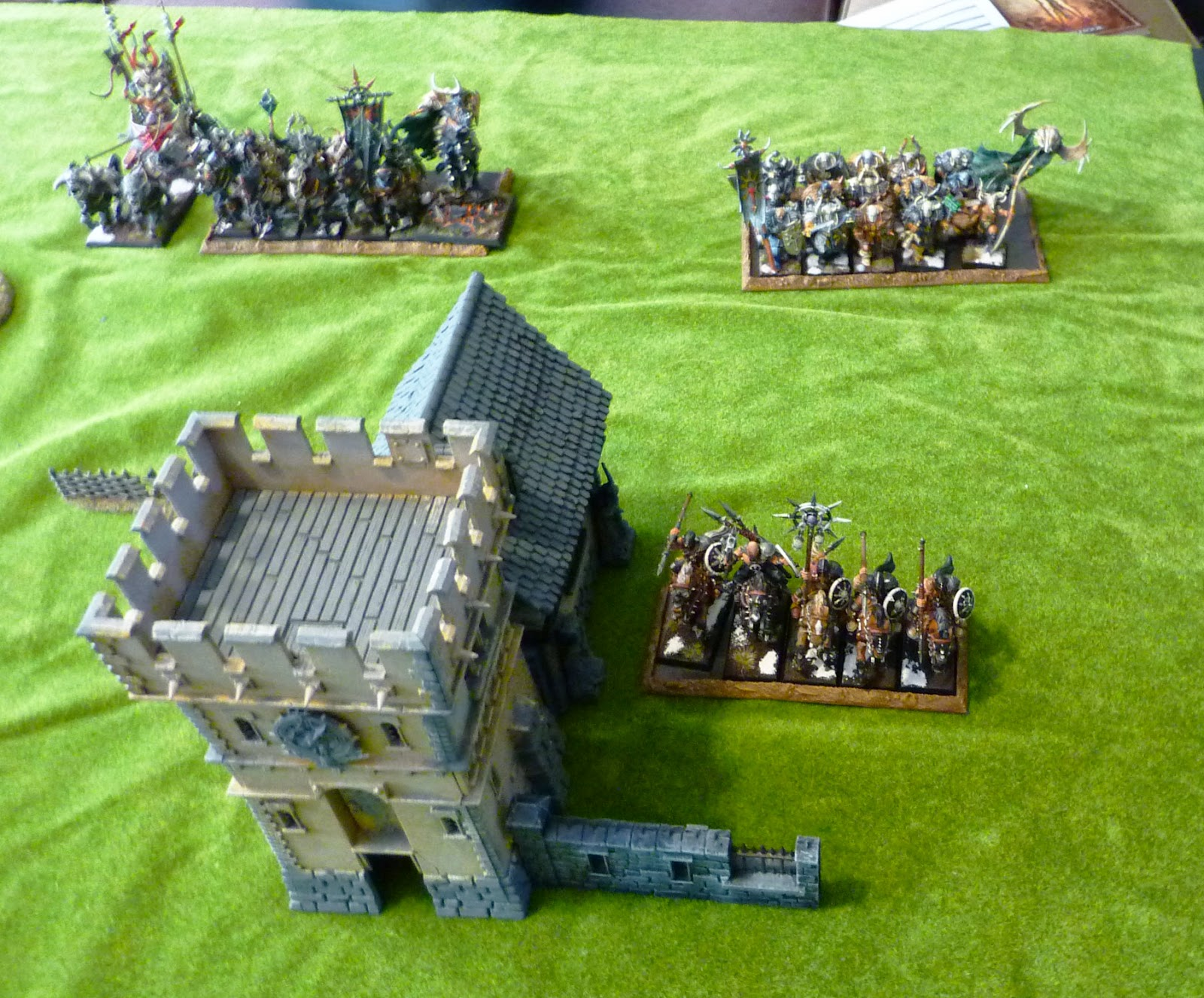 A Warhammer Fantasy Battle Report between Wood Elves and Warriors of Chaos
