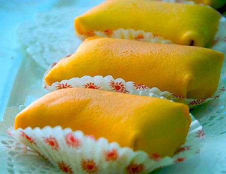 cara membuat durian crepe, durian crepe