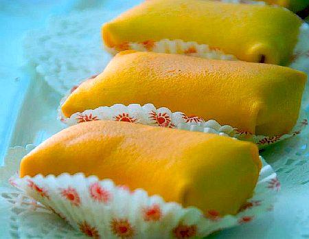 cara membuat durian crepe, durian crepe