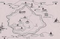 Drawn map of Bromo