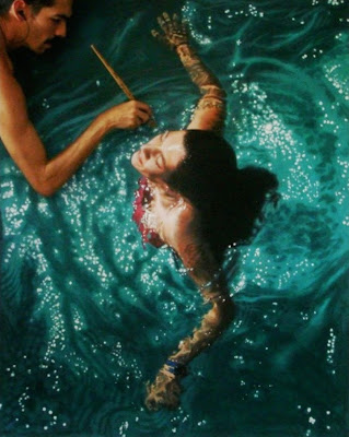 wonderful life like swimming painting