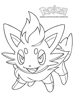 Pokemon Coloring Pages Zorua