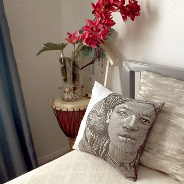 "Fabric design, ""Sudanese Belle,"" by Sala Faruq"