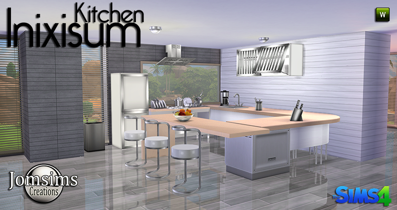 My sims 4 blog inixisum kitchen set by jomsims for Sims 3 cuisine moderne