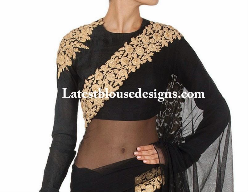full sleeves high neck blouse
