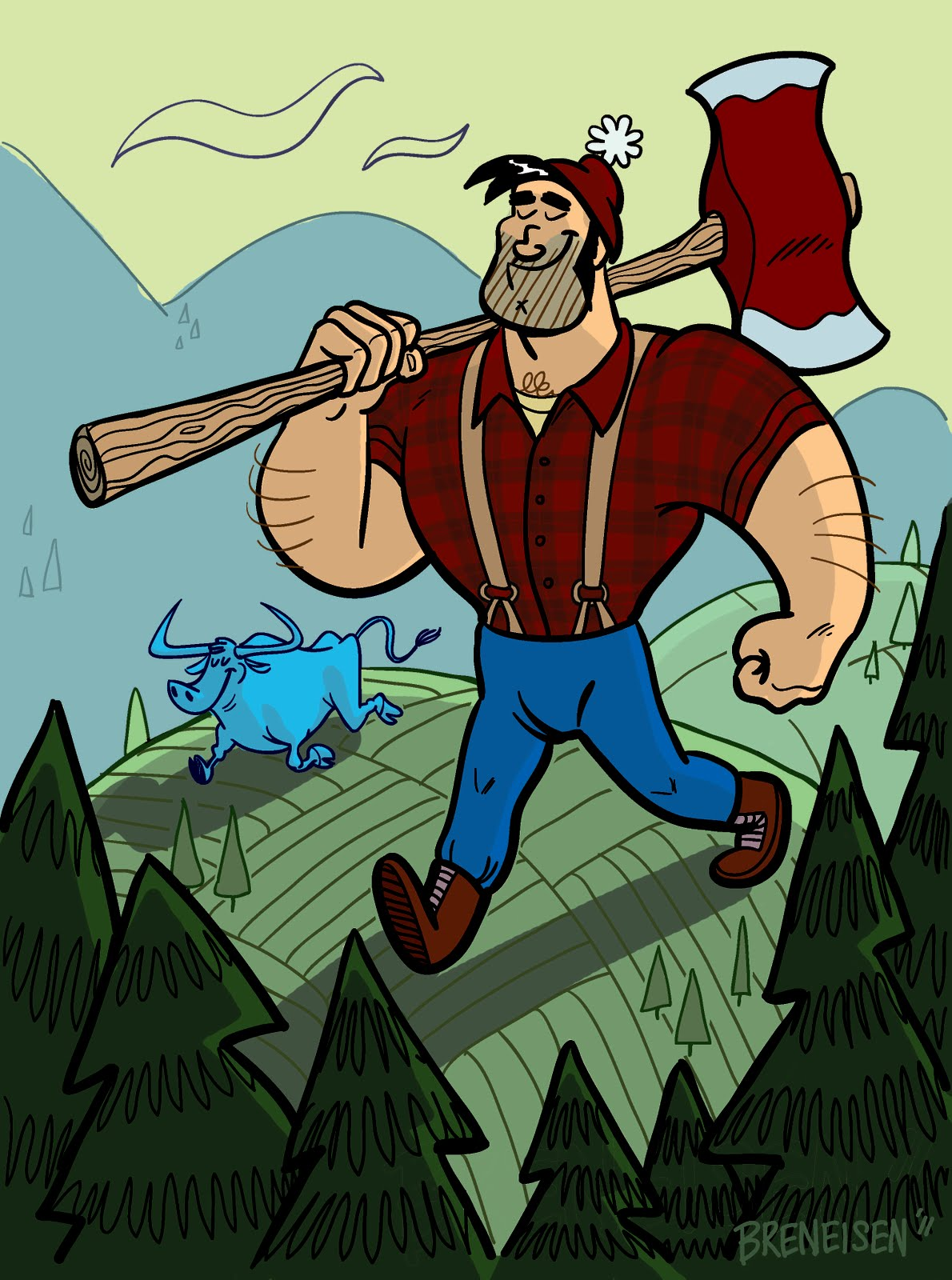 the gallery for  gt  paul bunyan drawing paul bunyan clip art river paul bunyan clip art black and white
