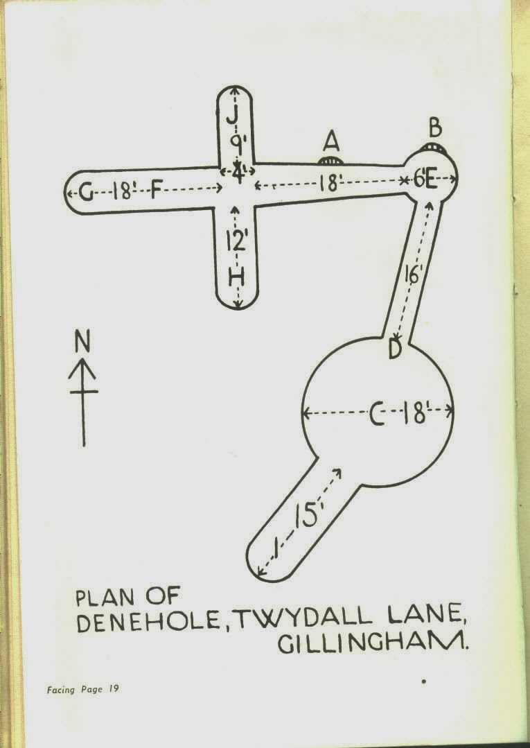 Rainham Mark School Sinkhole - Layout of Dene Holes in Rainham Kent
