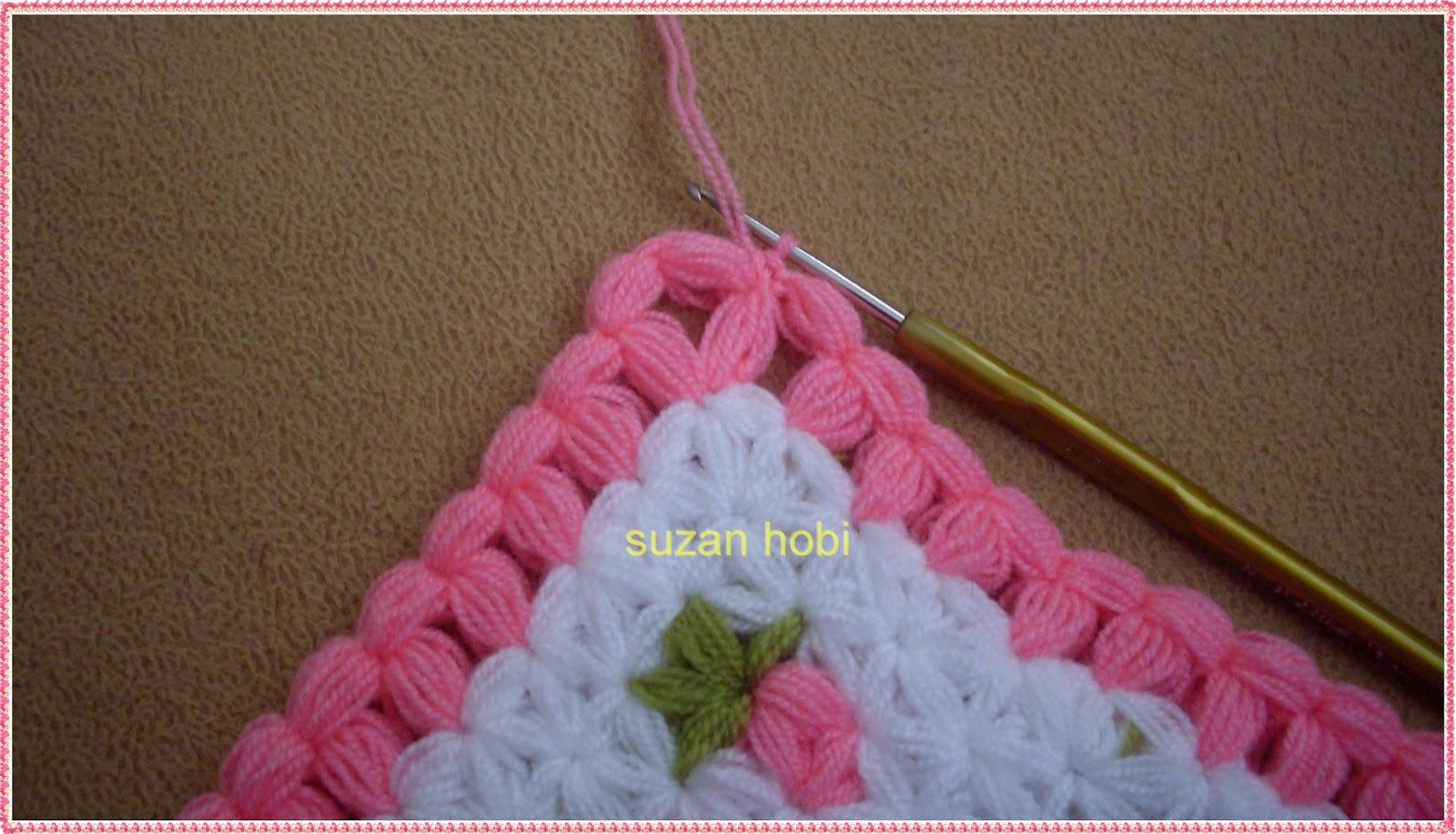 Вязание крючком тапочки с пышными столбиками
