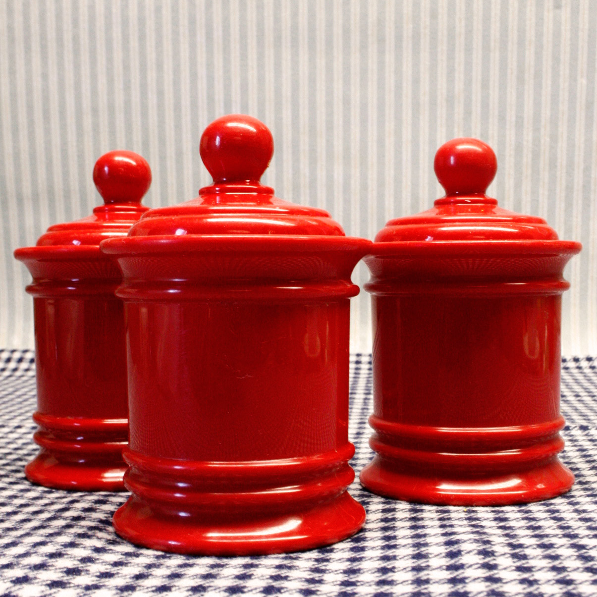 La puce au grenier d coration vintage lot 3 pots de cuisine for Pots cuisine decoration