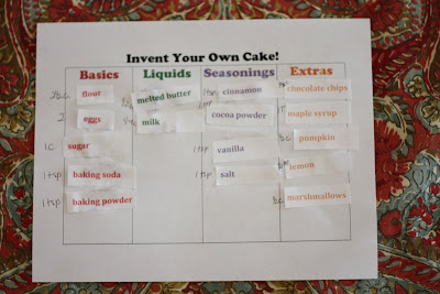 Invent Your Own Cake!