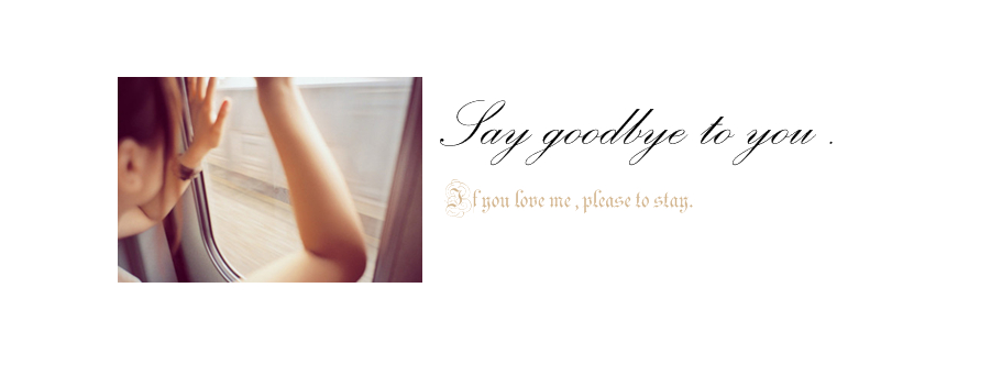 Say Goodbye to you . | 跟你說再見 .