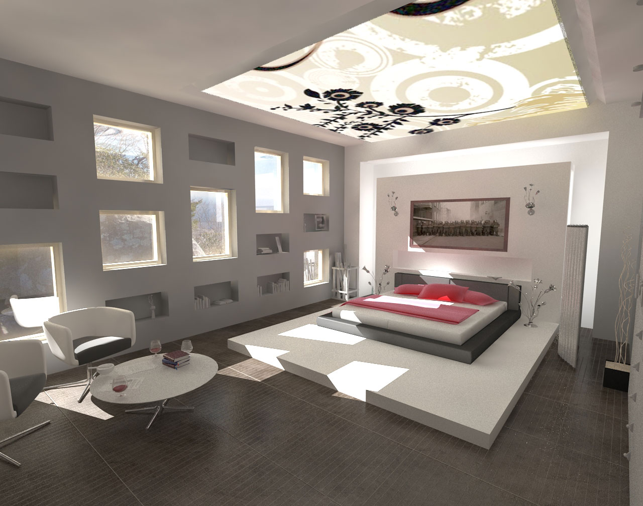 Interior design ideas fantastic modern bedroom paints Cool bedroom ideas