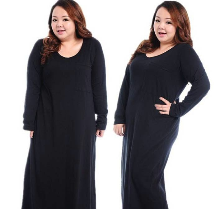 Desain Baju Sifon lengan panjang Santai Wanita gemuk