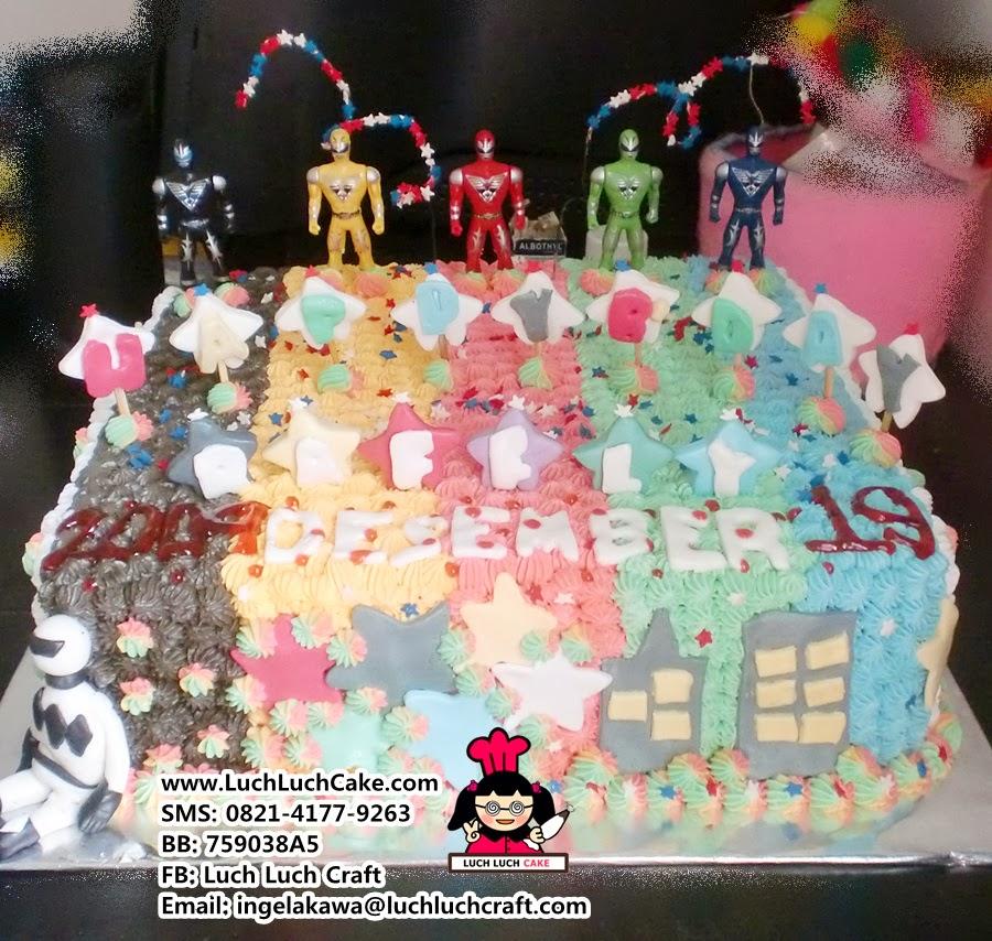 Kue Tart Power Rangers Daerah Surabaya - Sidoarjo
