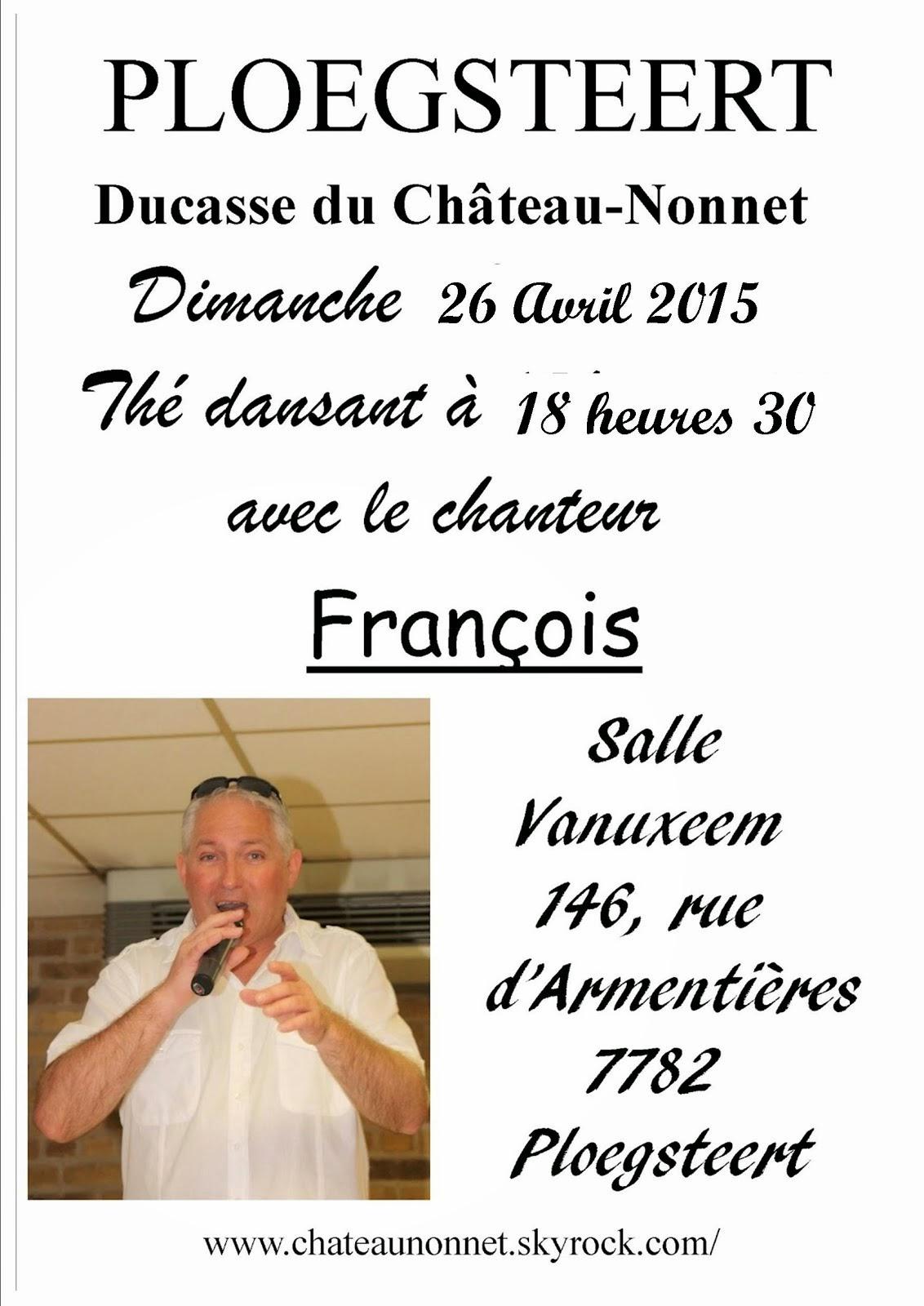 26 avril François chante au Château-Nonnet