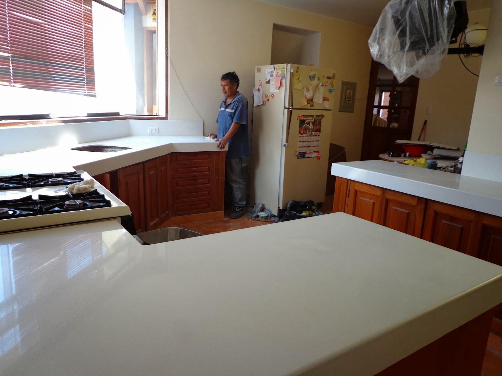 Maestro Marmolero y Granitero realiza tableros de cocina en piedras ...