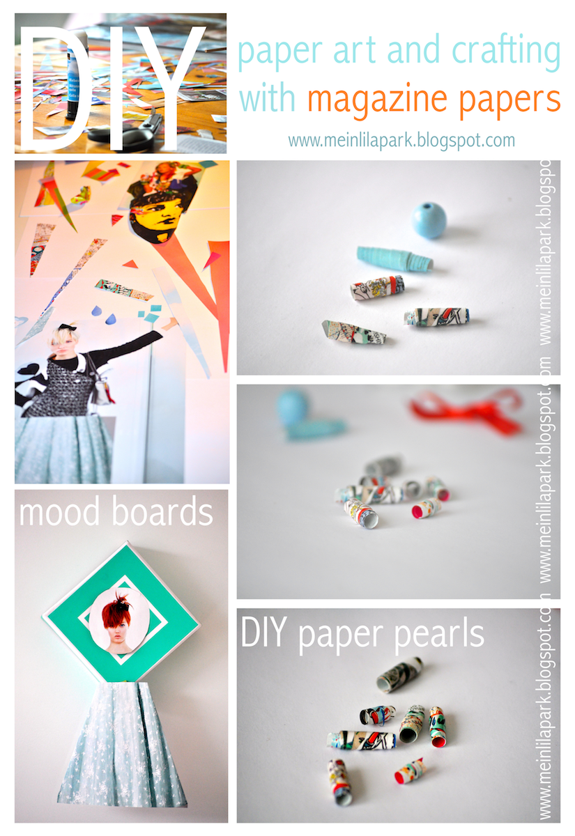 diy inspiration paper beads tutorials and mood boards basteln mit zeitschriften meinlilapark. Black Bedroom Furniture Sets. Home Design Ideas