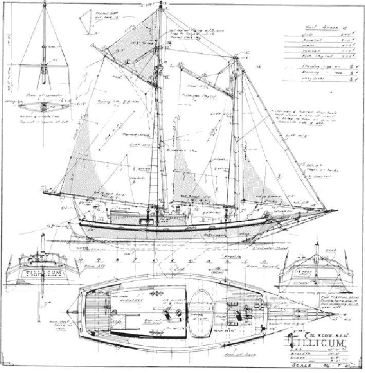 Triloboat talk a tale of two scows for Bill garden designs