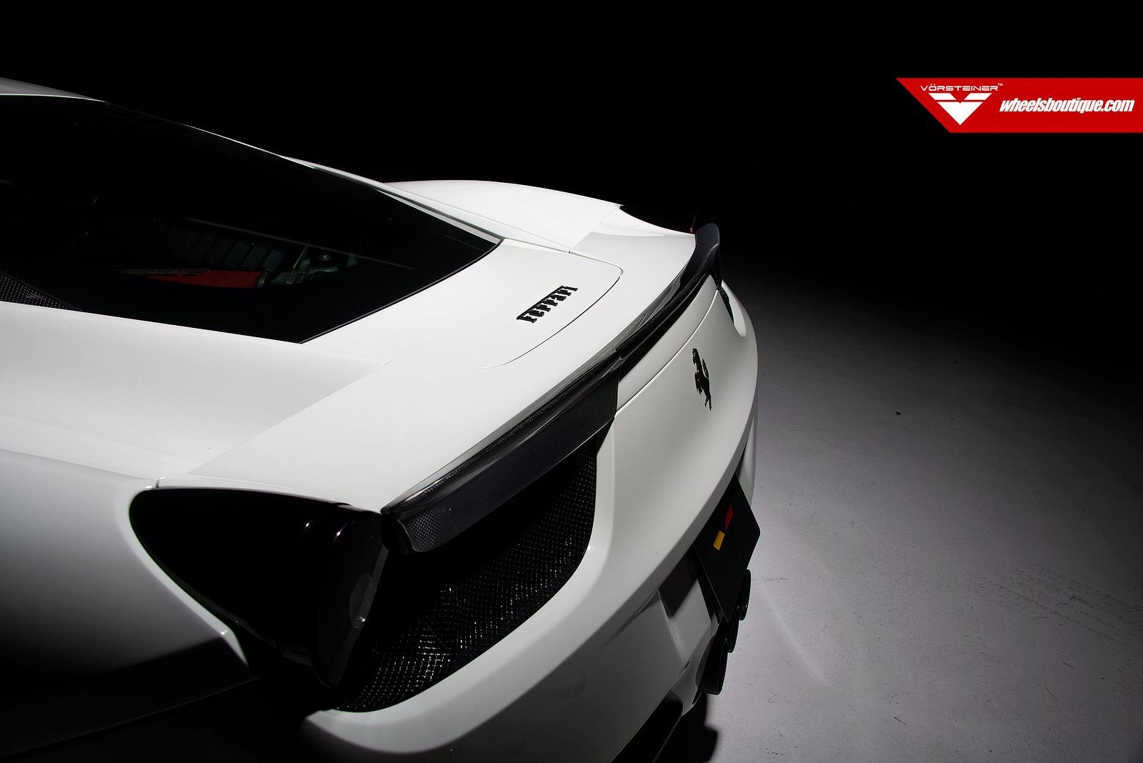 Seamless white Ferrari 458 Italia by Vorsteiner