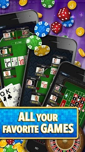 Screenshots of the Big Fish Casino for Android tablet, phone.
