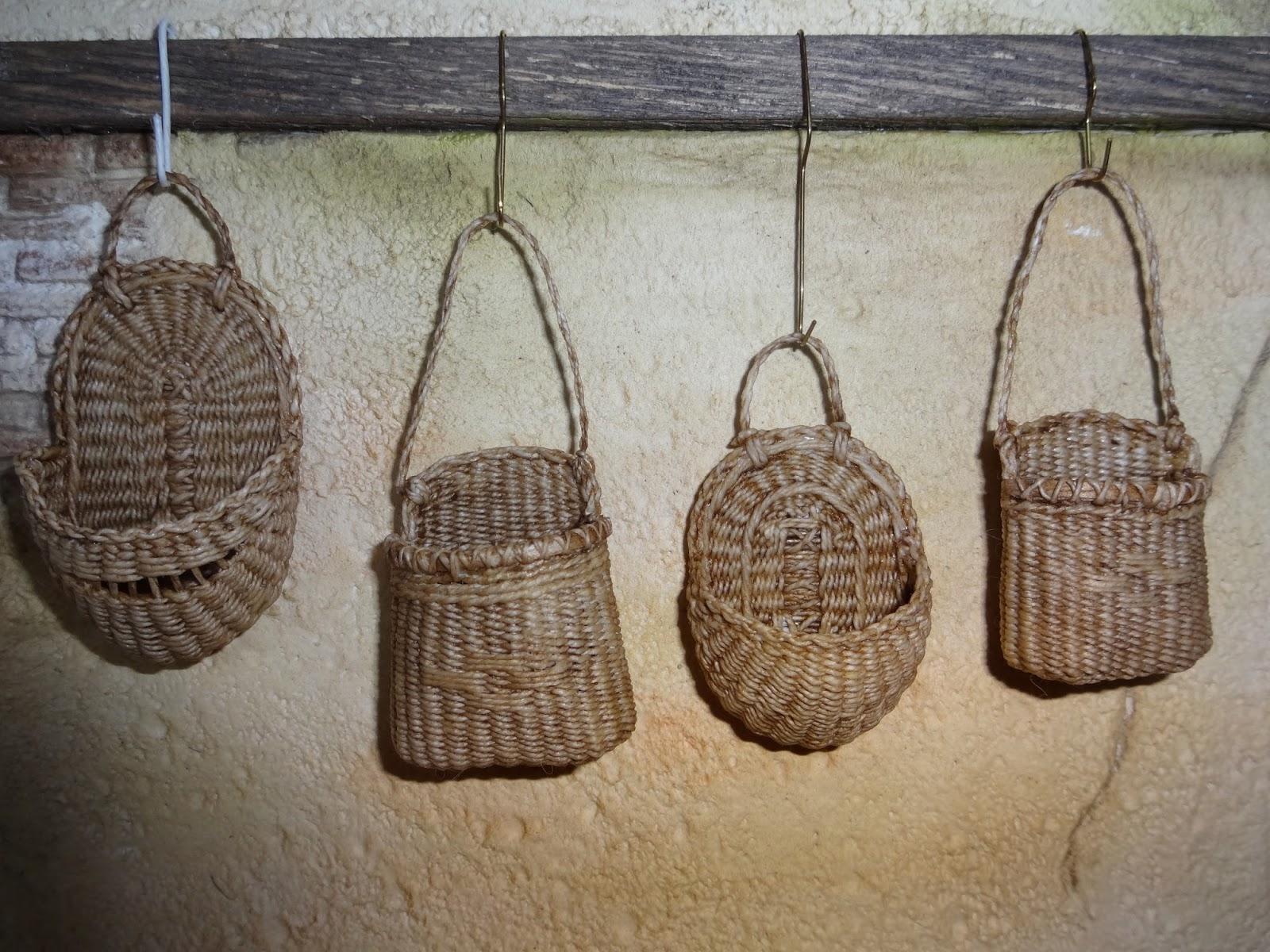 basketcase miniatures some wall hanging baskets