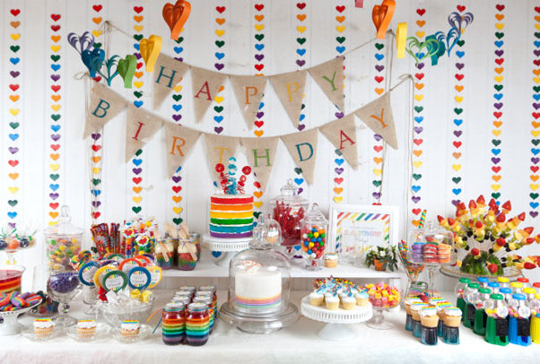 Party Frosting: Rainbow party ideas and inspiration