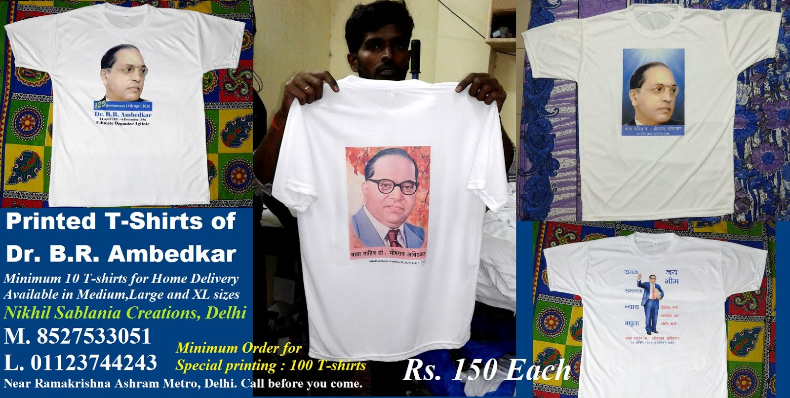 T-shirts of Dr. Ambedkar