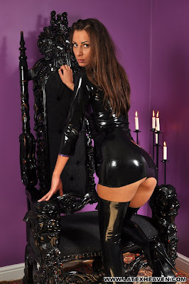 Sexy Brunette Marta Perfect Ass in Tight Shiny Latex