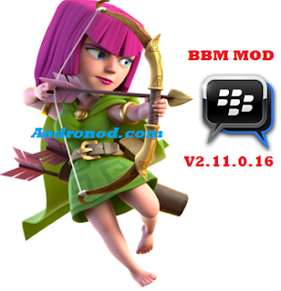 BBM Mod Tema Archer Clash Of Clans (COC) Versi 2.11.0.16 Apk