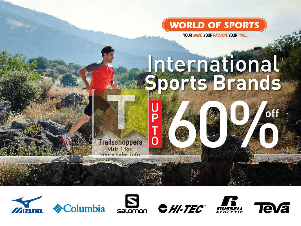 World of Sports International Sports Brands Event Sale