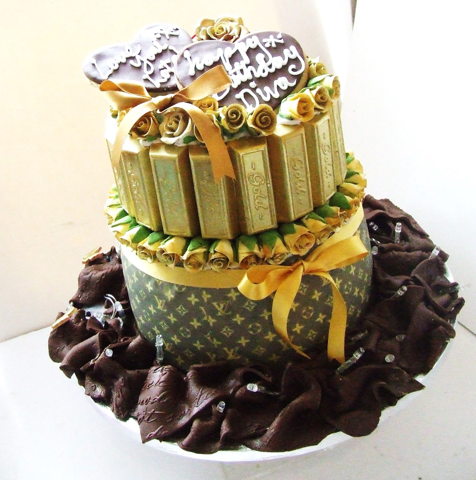 Iced Out Company Cakes Louis Vuitton Engagment Birthday Cake