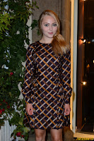 AnnaSophia Robb at the Marilyn exhibition in Florence Italy