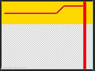 رسم شكل بأستخدام line tool