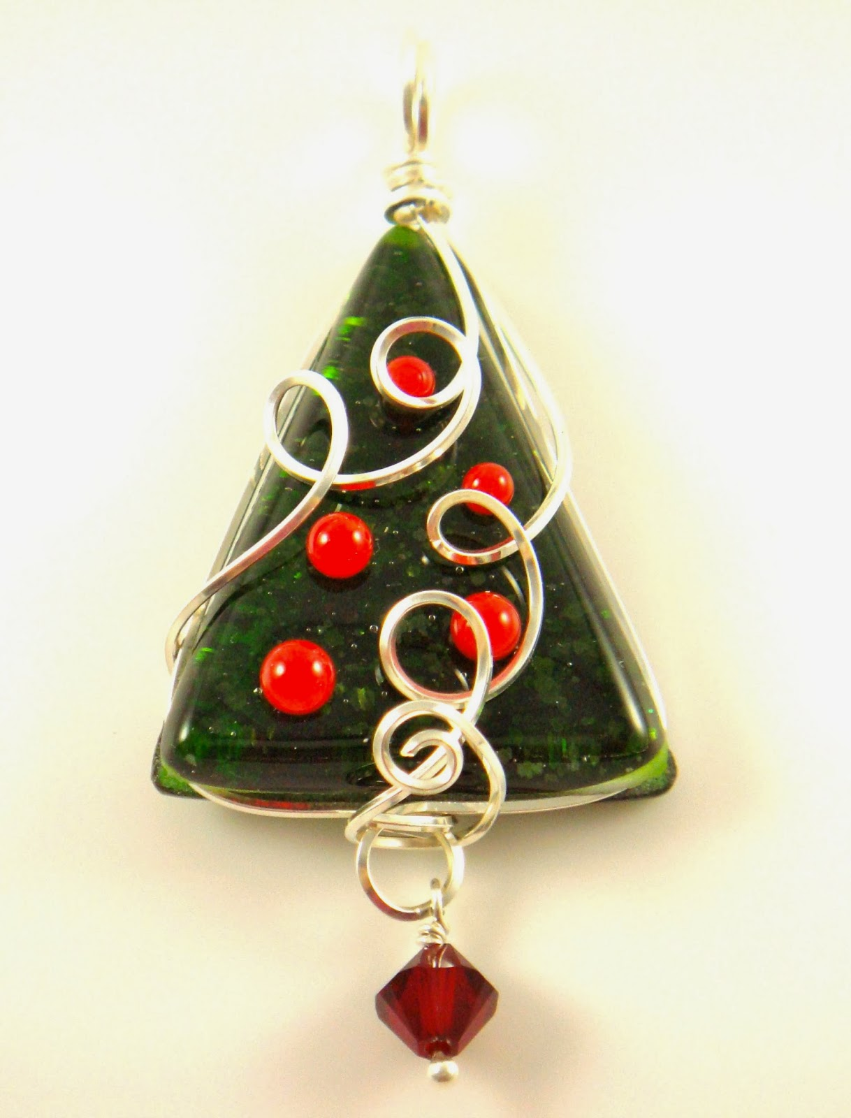 Fusion glass merry christmas new fused