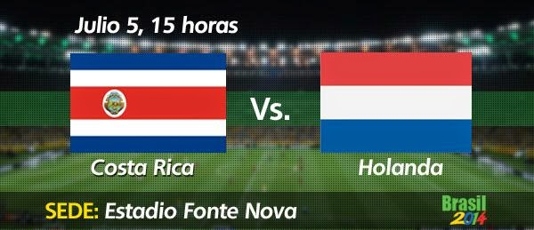 Partido Holanda vs Costa Rica Cuartos de Final