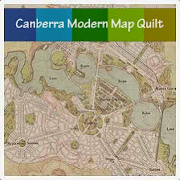 canberra modern map quilt project