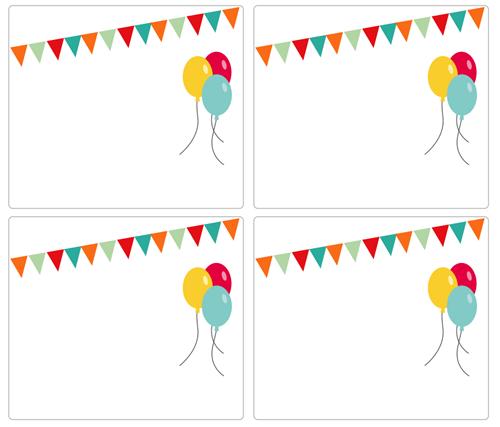 Dibujos para Colorear: Invitaciones de cumpleaños