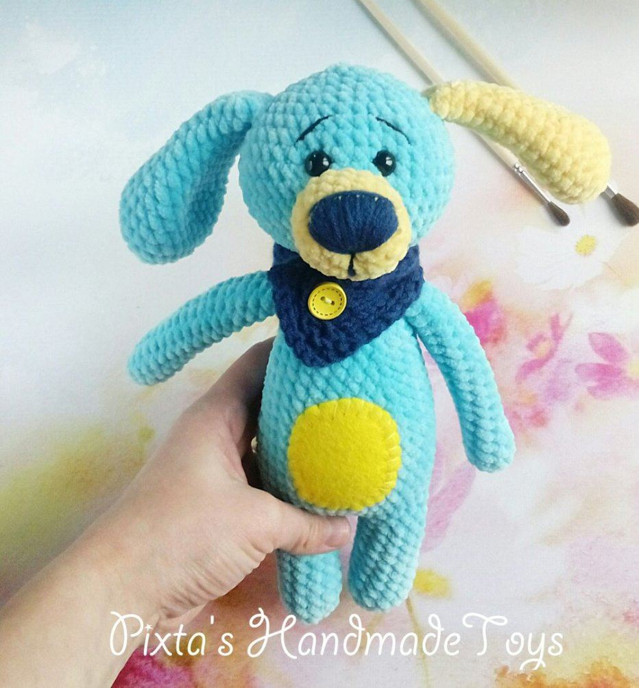 Crochet dog amigurumi plush toy