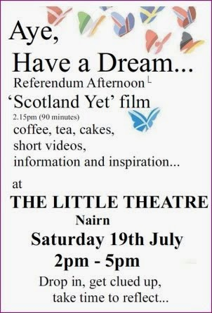 "Film ""Scotland Yet"" Little Theatre Saturday 19th July"