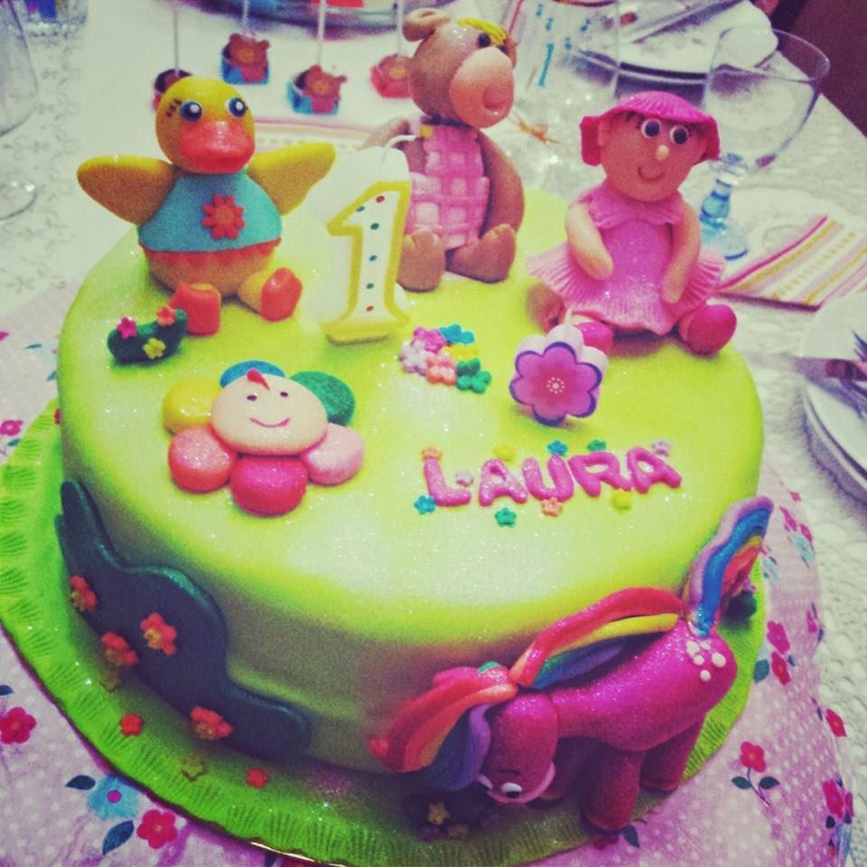 Bolo 1º aniv, Laura 2014