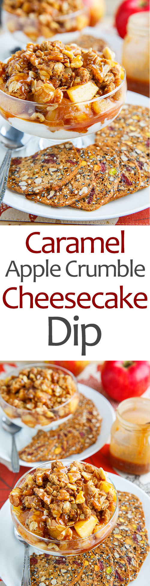 Caramel Apple Crumble Cheesecake Dip