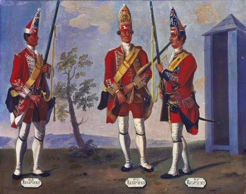 43rd, 44th and 45th Regiments of Foot, Grenadiers, 1751