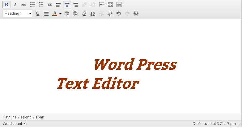 how to use text editor in WP