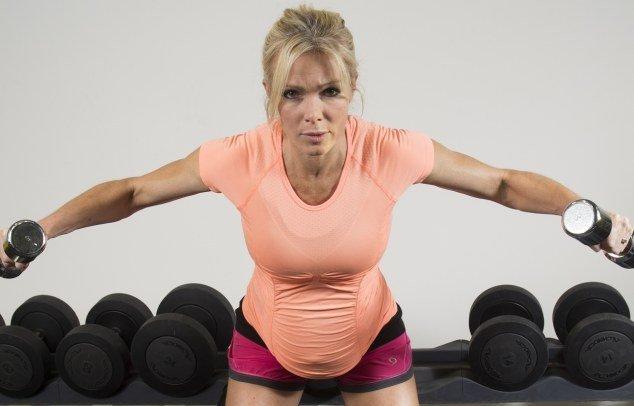 Упражнения с гантелями беременным