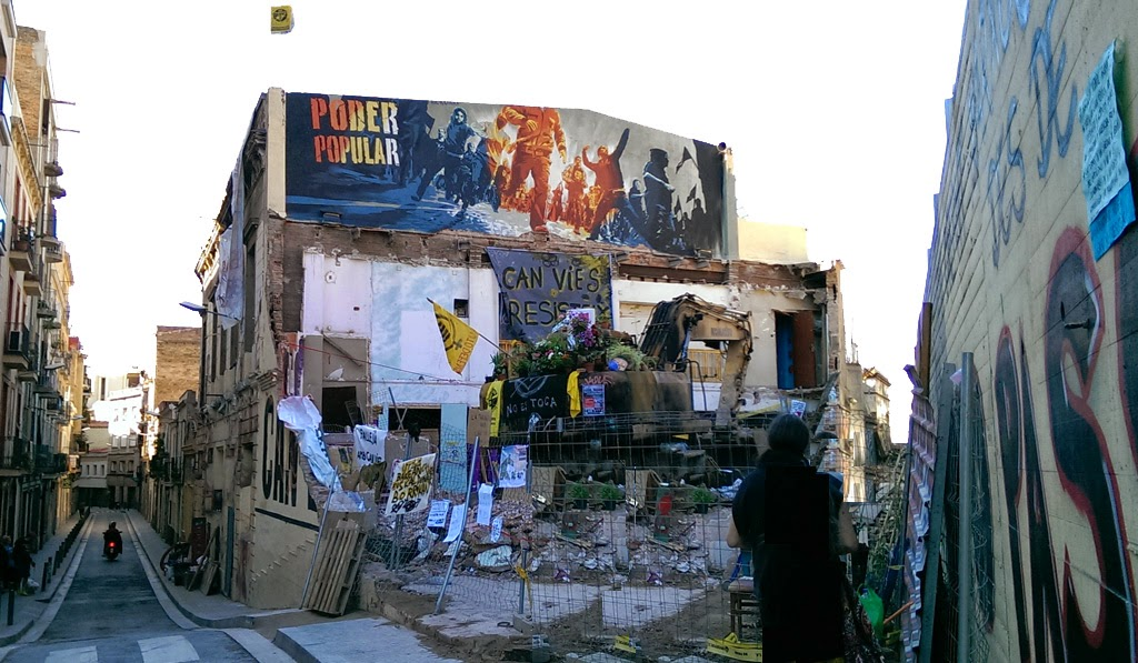 Can Vies, Sants, Barcelona, 1 junio 2014